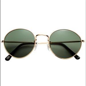 Gold Metal Frame Sunglasses